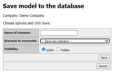 Save model