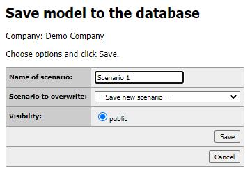 Save multiple scenarios